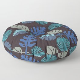 Blue Frond Floor Pillow