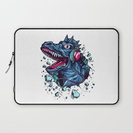 Dino with Headphones BLUE Orient Laptop Sleeve