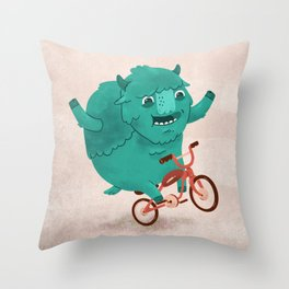 Bicycle Buffalo Throw Pillow