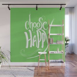 Choose Happy (Green Flash) Wall Mural