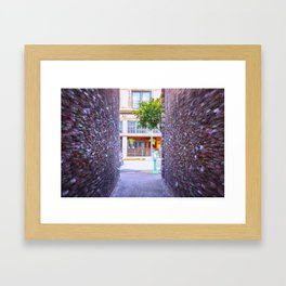 Emergency Exit Bubblegum Alley San Luis Obispo Framed Art Print