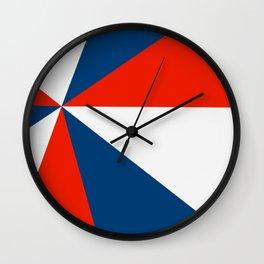 Retro Beams Pop Art - Red White Blue Wall Clock