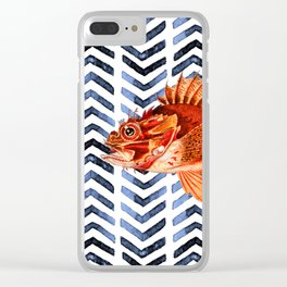 RED SCORPIONFISH Clear iPhone Case