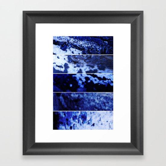 Blue Magnification (Five Panels Series) Framed Art Print