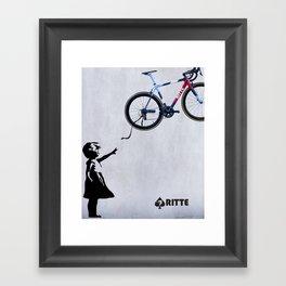 Ritte - Float Away Ace Framed Art Print
