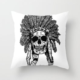 Chief Skull Throw Pillow