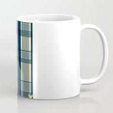 Blue Plaid Pattern Mug