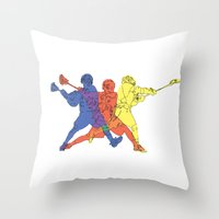 lacrosse Throw Pillows featuring Lacrosse by preview