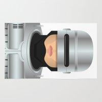 robocop Area & Throw Rugs featuring Robocop by Capitoni