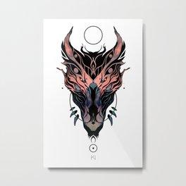 Mystic Wolf head Metal Print