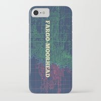 fargo iPhone & iPod Cases featuring Fargo-Moorhead Street Map by CartoPosters Maps