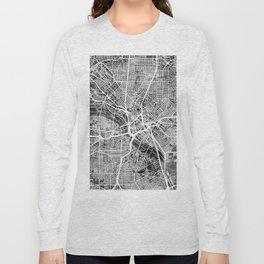 Dallas Texas City Map Long Sleeve T-shirt