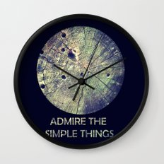 Admire The Simple Things Wall Clock