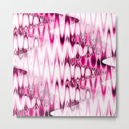 Warped Glass in pink Metal Print
