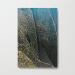 Jurassic Park | Na' Pali Coast landscape Hawaï | Kauai, Kona A Garden Isle, | Photo Print Metal Print