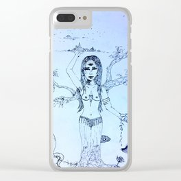 Woman of the Sky, Earth, and Sea Clear iPhone Case