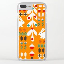 Sweet Christmas bunnies Clear iPhone Case