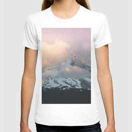 Pink Fog Mountain Morning T-shirt