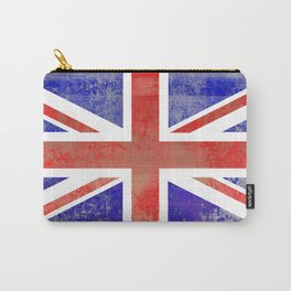 Grunge Union Jack Flag Carry-All Pouch