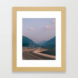 Road to Nowhere in Banff Framed Art Print
