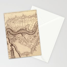 Map Of Brest 1693 Stationery Cards