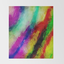 Colorful Abtract Paint Splats Throw Blanket