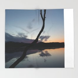 Sunset on lake, Nature Photography, Landscape Photos, sunset photos Throw Blanket