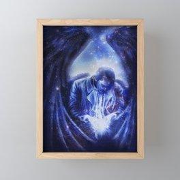 Angel in Blue Framed Mini Art Print