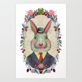 Mr. Bun Art Print