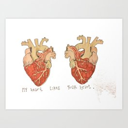 My Heart Likes Your Heart Art Print