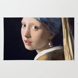Girl with a Pearl Earring Rug