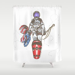 The Last Spaceman Shower Curtain