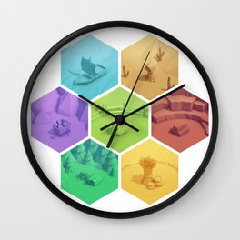 The Resource Conquest - 3D Wall Clock