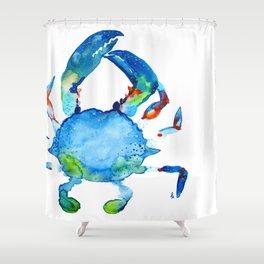 Blue Claw Crab - Nautical - Summer - Ocean - Sea Life Shower Curtain