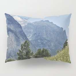 Silberhorn Mountains And Glacier. 3.695meters. Lauterbrunnen Valley. Alps. Switzerland Pillow Sham