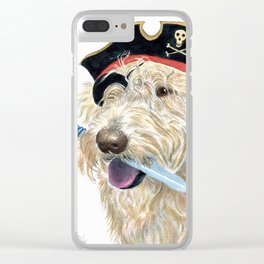 Labradoodle Pirate Clear iPhone Case