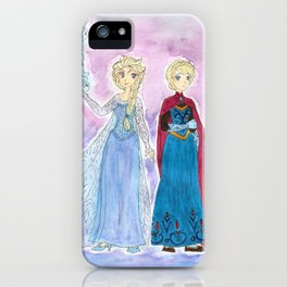 Elsa - Snow Queen and Coronation gowns iPhone Case