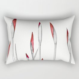 Red and White Spring Rectangular Pillow