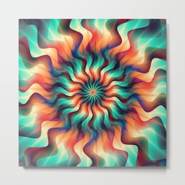 Bright and vibrant flower mandala Metal Print