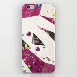 Maroon climbing wall boulders bouldering gym abstract geometric print iPhone Skin