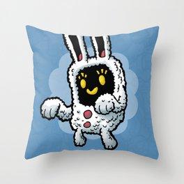 Rabbit doodle Throw Pillow