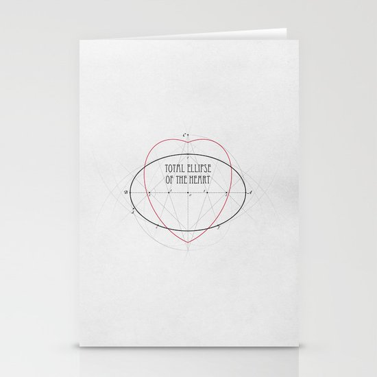 Total Ellipse of the Heart Stationery Cards