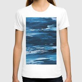 Blue Brush Strokes (Color) T-shirt
