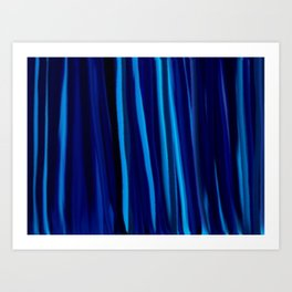 Stripes  - Ocean blues and black Art Print