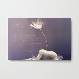 It all starts with A wish  Metal Print