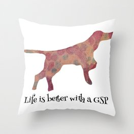 GSP love Throw Pillow