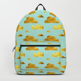 Gold cloud blue Backpack