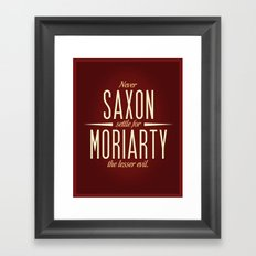 Saxon & Moriarty Framed Art Print