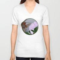 hummingbird V-neck T-shirts featuring Hummingbird by dBranes