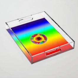 Ohm with Chakra Colours Acrylic Tray